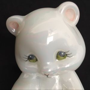 Fenton Burmese Bear Hand Painted Iridescent Signed